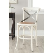 Safavieh Eleanor 24.4'' Bar Stool with Cushion; Ivory
