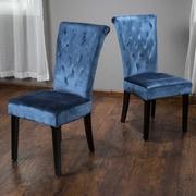 Home Loft Concepts Charlotte Side Chair (Set of 2); Crushed Velvet - Teal