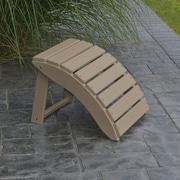 A&L Furniture Folding Ottoman; Weathered Wood