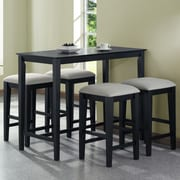 Monarch Specialties Inc. Counter Height Kitchen Table; Black Grain
