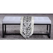 NOYA USA Metal Bedroom Bench; White