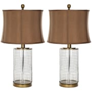 Safavieh Cage 26.5'' H Table Lamp with Oval Shade (Set of 2)