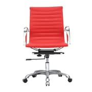 Fine Mod Imports Mid-Back Conference Office Chair; Red