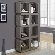 Monarch Specialties Inc. 8 Shelf 71'' Cube Unit; Taupe