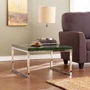 Southern Enterprises Scanlyn Faux-Stone Occasional Table, Green Malachite (CK3572)