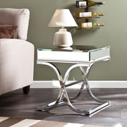 Southern Enterprises Ava Metal End Table, Chrome, Each (CK4372)