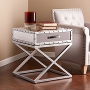 Southern Enterprises Lazio Industrial Mirrored End Table (CK4812)