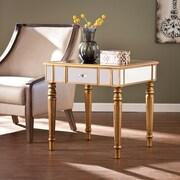 Southern Enterprises Brandilyn Mirrored End Table, Champagne Gold (CK8432)