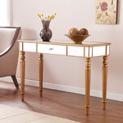 Southern Enterprises Brandilyn Mirrored Console Table, Champagne Gold (CK8433)