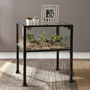 Southern Enterprises Terrarium Metal End Table, Black, Each (CK8862)