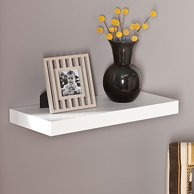 Southern Enterprises Chicago 24 Floating Shelf, White (EN7243)