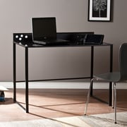 Southern Enterprises Mercer Metal/Glass Desk with Power and USB, Black (HO5514)