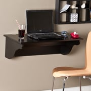 Southern Enterprises Barrie Wall Mount Desk Ledge, Black (HO8307)