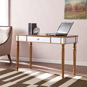 Southern Enterprises Brandilyn Mirrored Desk, Champagne Gold (HO8434)