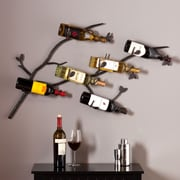 Southern Enterprises Brisbane Wall-Mount Wine Rack (HZ1005)