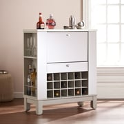 Southern Enterprises Mirage Mirrored Fold-Out Wine/Bar Cabinet (HZ1049)