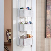 Southern Enterprises Over-the-Door 3-Tier Basket Storage, White (HZ5233)