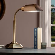 Southern Enterprises OttLite Alton Task Table Lamp, Honey Brass (LT6111)
