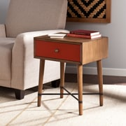 Southern Enterprises Norwich Wood Accent Table, Red, Each (OC0314)