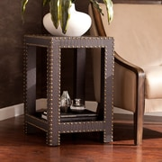 Southern Enterprises Reptilian Nailhead Accent Table, Brown (OC2074)