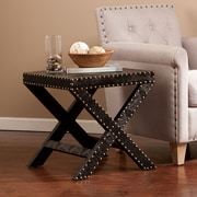 Southern Enterprises Nailhead-Trim Medium Density Fiberboard Accent Table, Black, Each (OC2075)