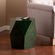 Southern Enterprises Roxbury Faux-Stone Accent Table, Green Malachite (OC7246)