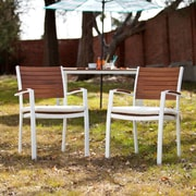 Southern Enterprises Mandalay Outdoor Easy Chairs, Soft White, 2 Pieces/Set (OD2711)