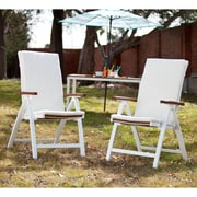 Southern Enterprises Mandalay Outdoor Position Chairs, Soft White, 2 Pieces/Set (OD2712)