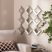 "Southern Enterprises Masada 29"" Mirrored Squares Wall Sculpture (WS9354)"