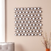 "Southern Enterprises Gridden 27"" Mirrored Wall Sculpture (WS9818)"