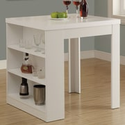 Monarch Specialties Inc. Counter Height Dining Table; White