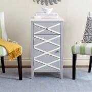 Safavieh Brandy 1 Door Cabinet; Grey / White