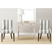 Safavieh Lester Parsons Chair (Set of 2); Grey/White Stripe