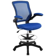 Modway Veer Drafting Chair with Footring; Blue