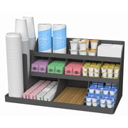 Mind Reader 'Vanguard' 14 compartment 3 tier Large breakroom organizer-Black