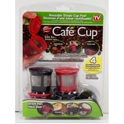 Cafe Cup - Reusable Single Cup Pod, 4/Pack