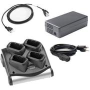 Zebra Enterprise 4-slot Battery Charger Kit, for MC90x0 & MC9190, Includes Power Supply (Pwrs-14000-242r), Dc Cord (25-72614