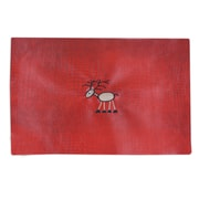Chooty & Co Tinga Rojo Embroidered Reindeer Placemat