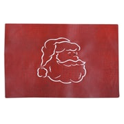 Chooty & Co Tinga Rojo Embroidered Santa Face Placemat