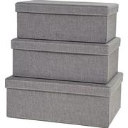 Creative Scents Gray Birch Storage Box (Set of 3)