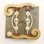 Green Tree Jewelry Double Fulcrum Switch Plate; Gray / Tan / Apple Green / Cherry Red