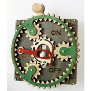 Green Tree Jewelry Single Planetary Switch Plate; Gray / Kelly Green / Natural Wood / Cherry Red