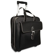 Jack Georges Generations Edge 14'' Vertical Laptop Catalog Case; Black/Cream