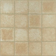 Home Dynamix 12'' x 12'' Luxury Vinyl Tile in Creme Marble Cubism