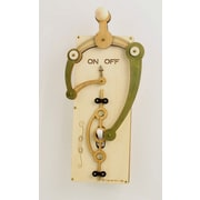 Green Tree Jewelry Single Toggle Switch Plate; Natural Wood / Tan / Apple Green / Black Satin