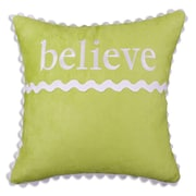 Brite Ideas Living Passion Suede ''Believe'' Leather Throw Pillow