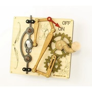 Green Tree Jewelry Single Lever Switch Plate; Natural Wood / Gray / Tan / Green / Black / Red