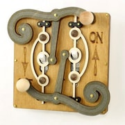 Green Tree Jewelry Double Fulcrum Switch Plate; Tan / Gray / Natural Wood / Black Satin