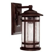 Capital Lighting Mission Hills 1 Light Outdoor Wall Lantern; Incandescent