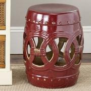 Safavieh Ceramic Double Coin Stool; Abby Red